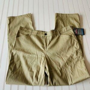 NWT Dickies Khaki Relaxed Fit Chino Pants Sz 18 R